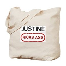 JUSTINE kicks ass Tote Bag