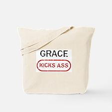 GRACE kicks ass Tote Bag