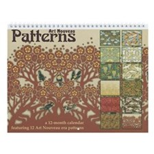 Art Nouveau Patterns Wall Calendar