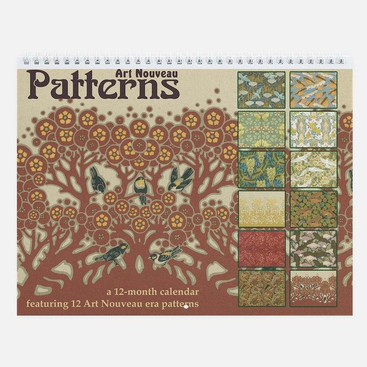 Calendar Artwork Design : Art nouveau calendars calendar designs