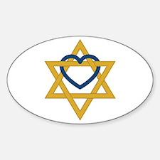 Star Of David Heart Decal