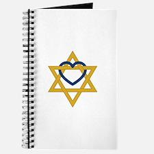 Star Of David Heart Journal