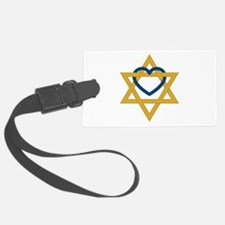 Star Of David Heart Luggage Tag