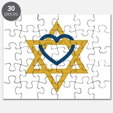 Star Of David Heart Puzzle