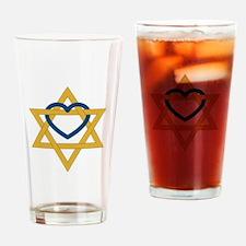 Star Of David Heart Drinking Glass