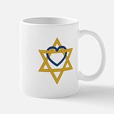 Star Of David Heart Mugs