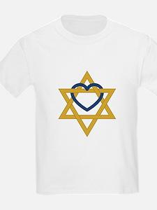 Star Of David Heart T-Shirt
