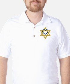 Star Of David Heart T-Shirt