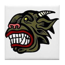 Demon Head Tile Coaster