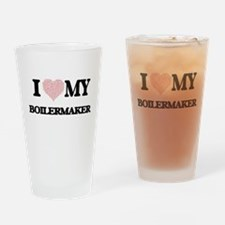 I love my Boilermaker (Heart Made f Drinking Glass