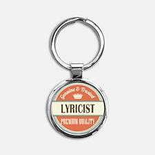 lyricist vintage logo Round Keychain