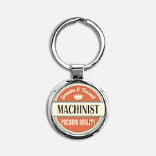 machinist vintage logo Round Keychain