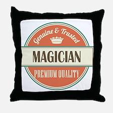 magician vintage logo Throw Pillow