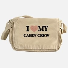 I love my Cabin Crew (Heart Made fro Messenger Bag