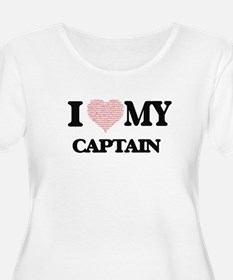 I love my Captain (Heart Made fr Plus Size T-Shirt