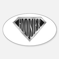 SuperHoosier(metal) Oval Decal