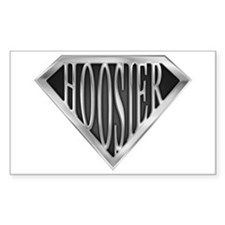 SuperHoosier(metal) Rectangle Decal