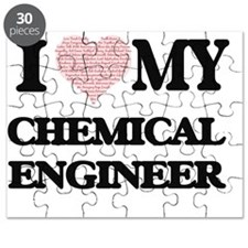I love my Chemical Engineer (Heart Made fro Puzzle
