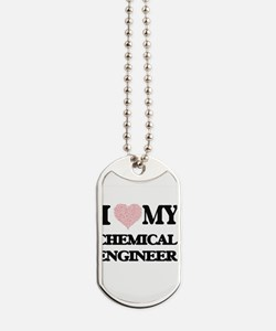 I love my Chemical Engineer (Heart Made f Dog Tags
