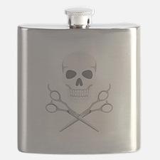 Skull Scissors Flask