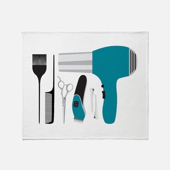 Salon Tools Throw Blanket