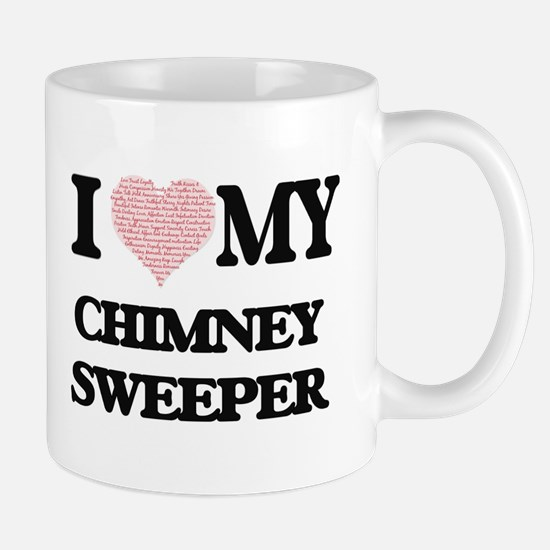 I love my Chimney Sweeper (Heart Made from Wo Mugs