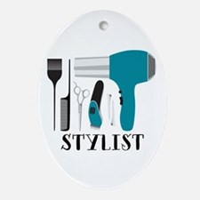 Stylist Tools Oval Ornament