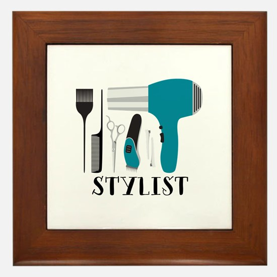 Stylist Tools Framed Tile