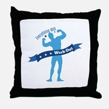 Work Out Throw Pillow