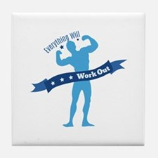 Work Out Tile Coaster