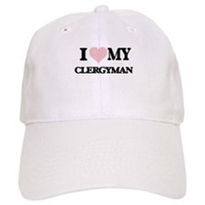 I love my Clergyman (Heart Made from Words) Cap