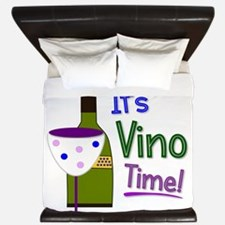 It's Vino Time! King Duvet