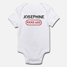 JOSEPHINE kicks ass Infant Bodysuit