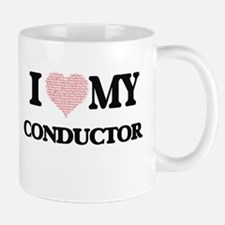 I love my Conductor (Heart Made from Words) Mugs