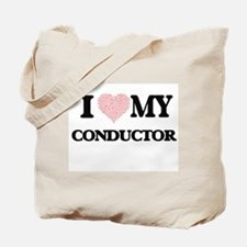 I love my Conductor (Heart Made from Word Tote Bag