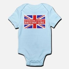 Everyone Loves a British Girl Infant Bodysuit