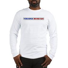 Virginia kicks ass Long Sleeve T-Shirt