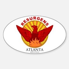 Atlanta Seal-Red Lettering Decal