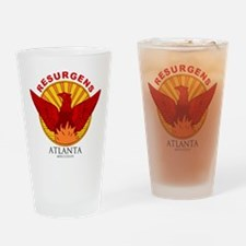 Atlanta Seal-Red Lettering Drinking Glass