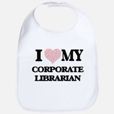 I love my Corporate Librarian (Heart Made from Bib