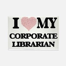 I love my Corporate Librarian (Heart Made Magnets