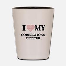 I love my Corrections Officer (Heart Ma Shot Glass