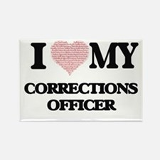 I love my Corrections Officer (Heart Made Magnets