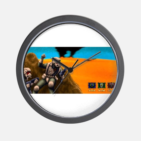 Battle for Planet Dune 2 Vintage Comput Wall Clock