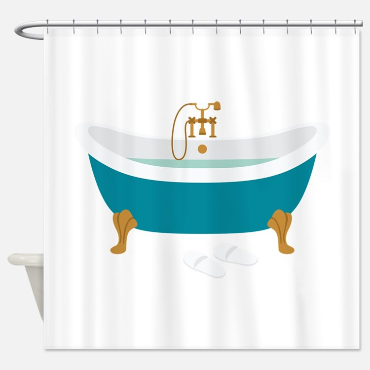 Vintage Bathroom Shower Curtains