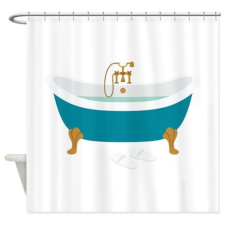 vintage bathtub shower curtain - Vintage Tub