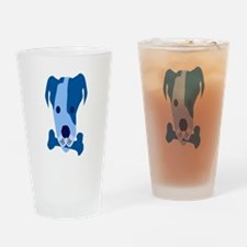 Bow Wow Blue Drinking Glass