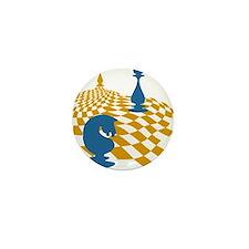 Chess Game Board Magnus Carlsen Art Mini Button