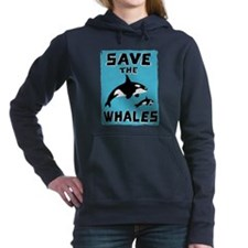 Unique Save whales Women's Hooded Sweatshirt
