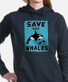 Unique Whale Women's Hooded Sweatshirt